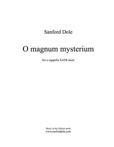 SDE-003 Sanford Dole O Magnum Mysterium