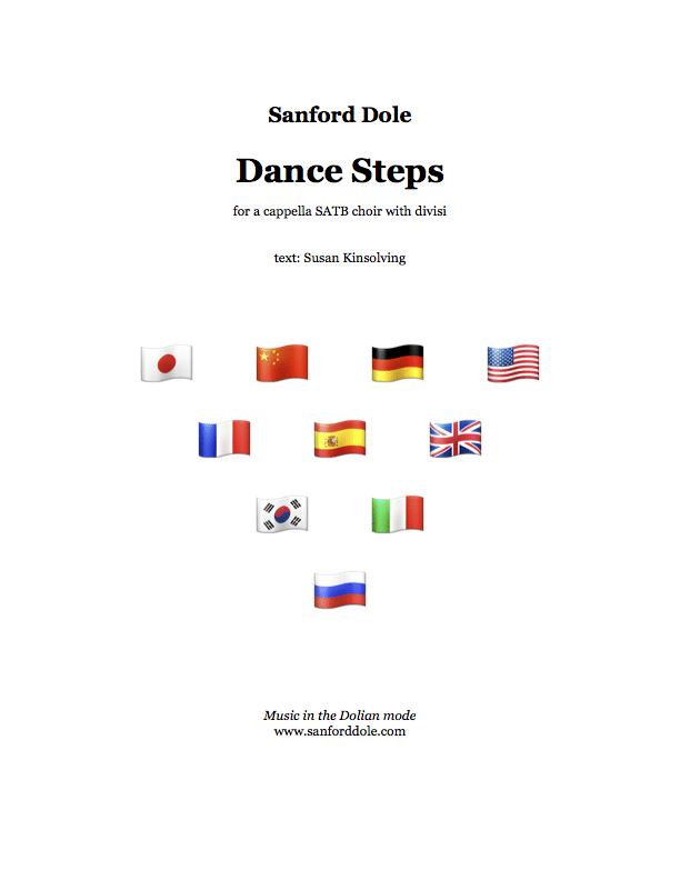 Sanford Dole Dance Steps SATB a cappella