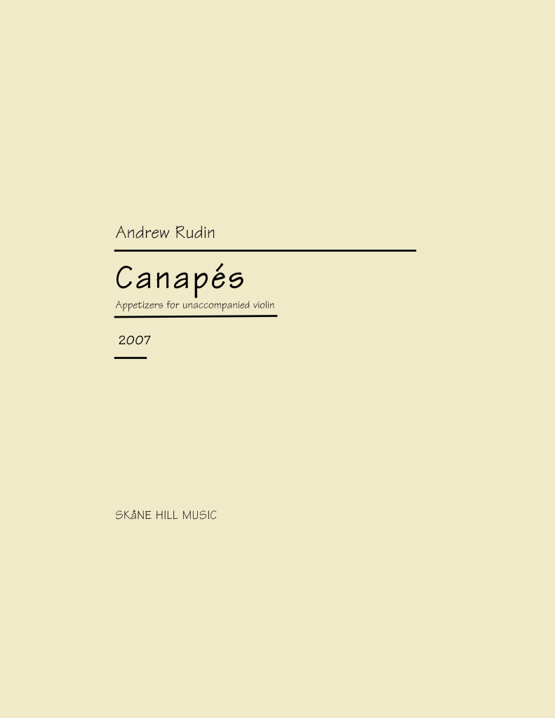 ARN-004 Canapes for unaccompanied Violin