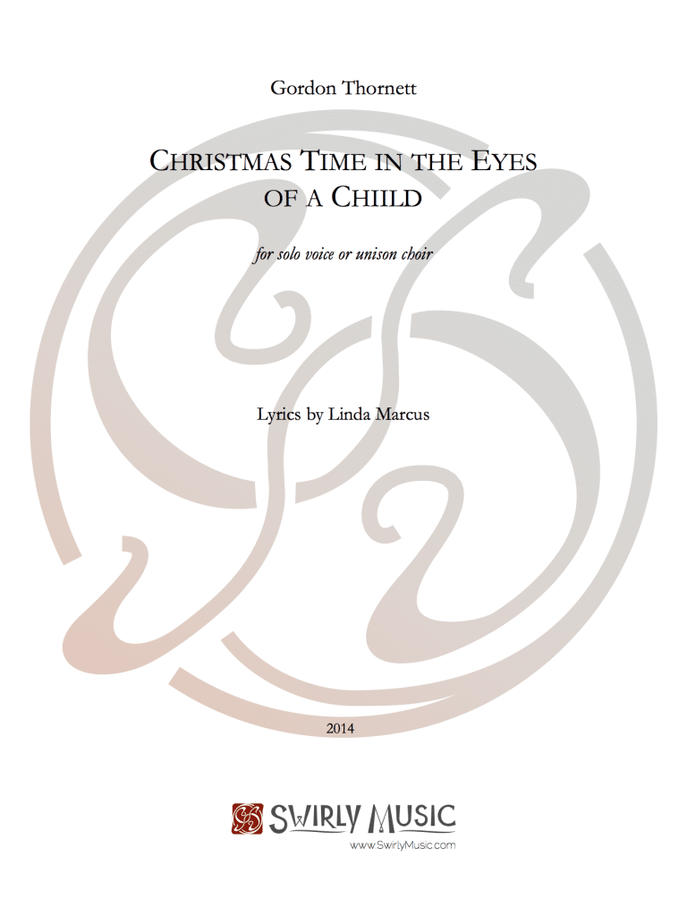 GTT-001 Thornett Christmas Time in the Eyes of a Child solo voice