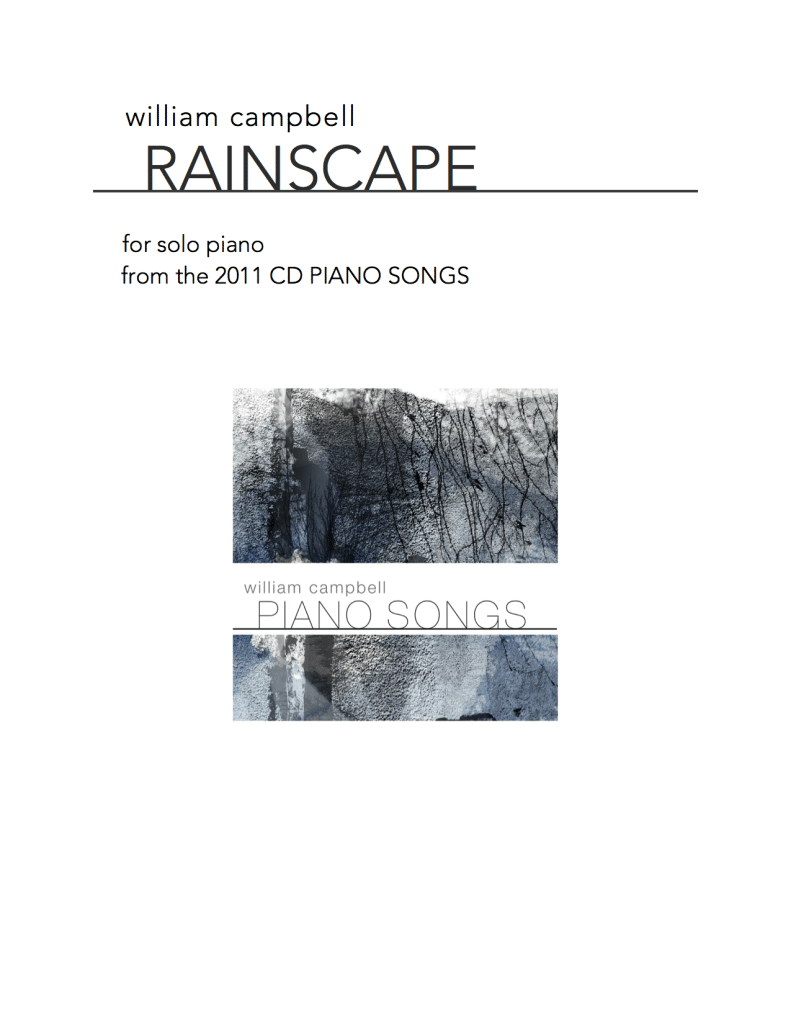 WCL-003 Rainscape for Solo Piano