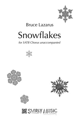 BLS-004 Snowflakes for SATB a cappella