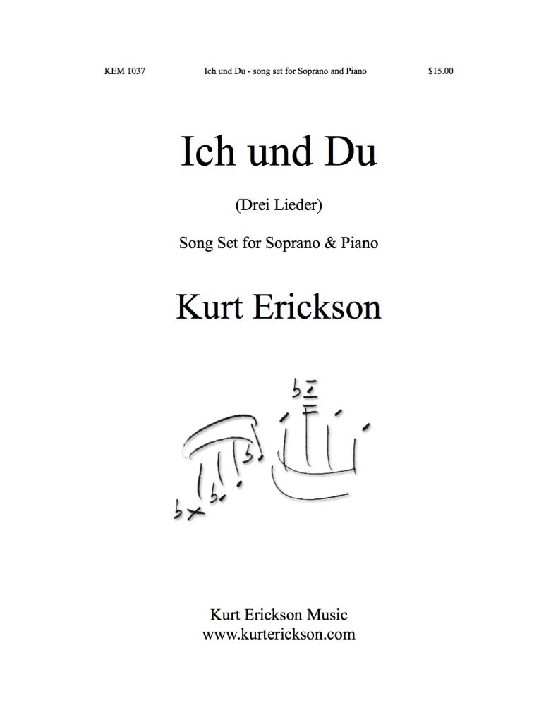 KEM-1037 Kurt Erickson Ich und Du soprano and piano