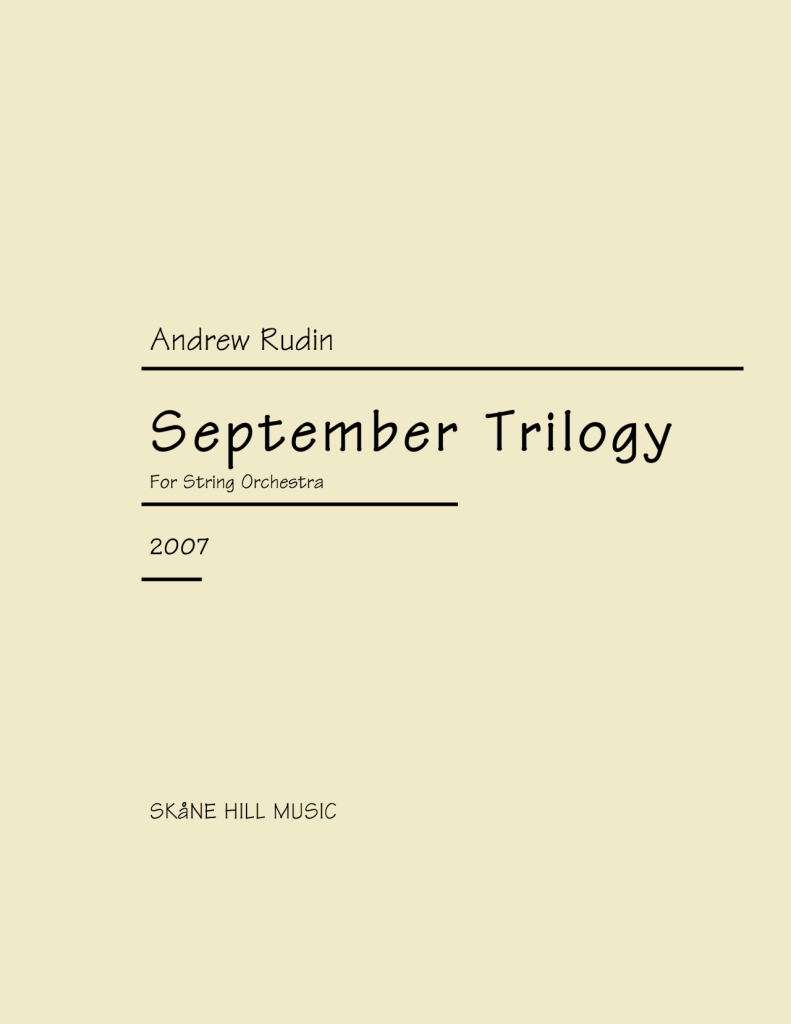 ARN-008 Andrew Rudin September Trilogy