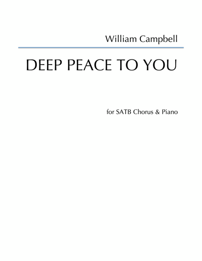 WCL-005 William Campbell Deep Peace to you SATB piano