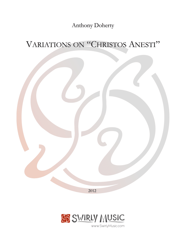 ADY-009 Anthony Doherty Variations on Christos Anesti cover