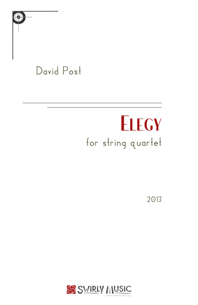 DPT-002 David Post Elegy for String Quartet