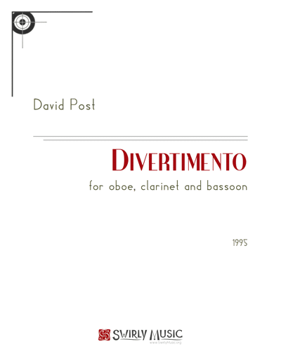 DPT-003 Divertimento for Oboe Clarinet and Bassoon