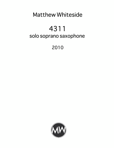 MW-0025 4311 for soprano saxophone