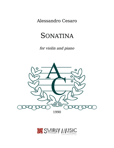 ACO-004 Sonatina for Violin and Piano