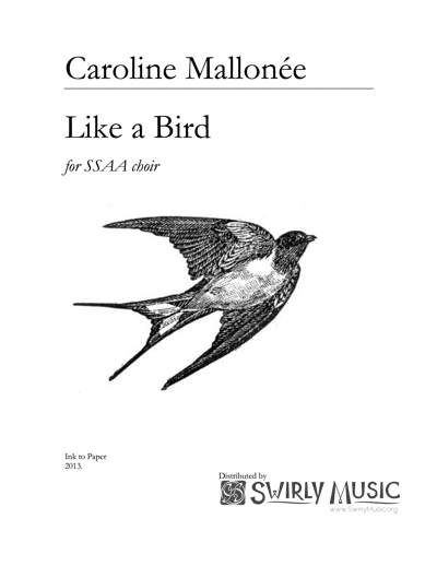 CME-002 Caroline Mallonée Like a Bird