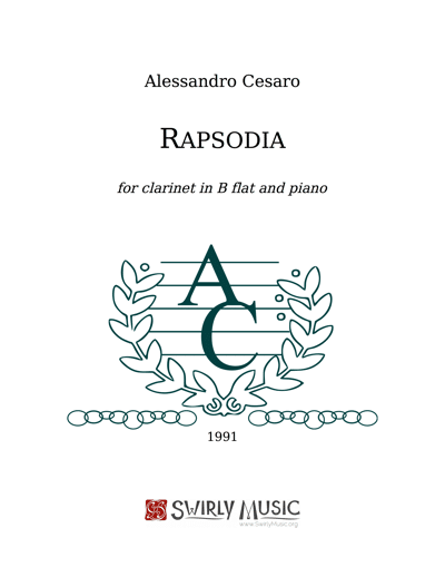 ACO-006 Rapsodia for Clarinet and Piano