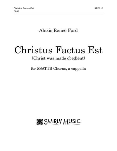 AFD-010 Christus Factus Est