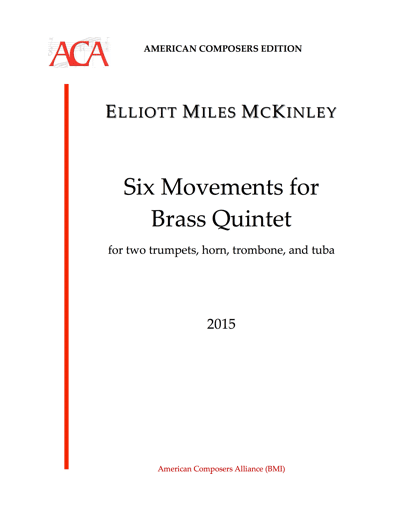 EMY-003 Six Movements Brass Quintet Cover