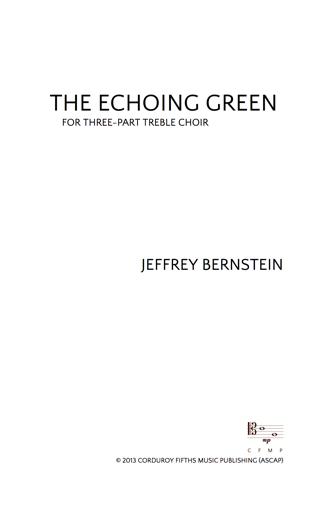 JBN-008 The Echoing Green
