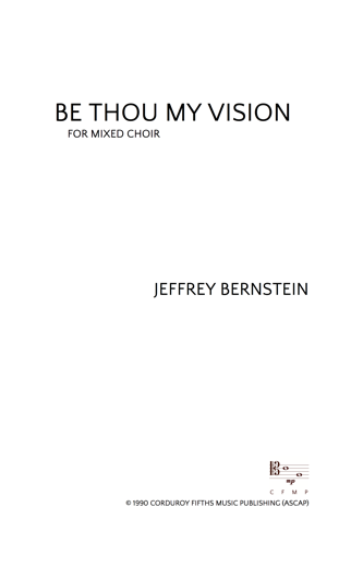 JBN-013 Be Thou My Vision