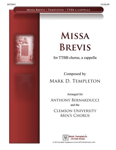 MTN043 – Missa Brevis – TTBB – Mark Templeton