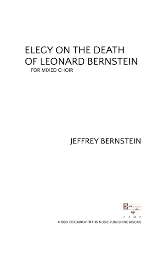 JBN-019 Elegy-On-The-Death-of-Leonard-Bernstein-Octavo