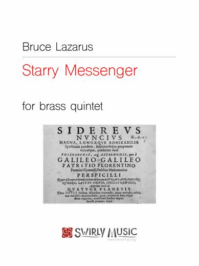 BLS-003 Bruce Lazarus Starry Messenger for Brass Quintet
