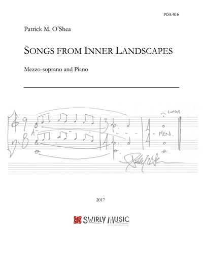 POA-016 Patrick O'Shea Songs From Inner Landscapes mezzo-soprano piano