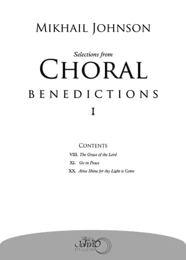 JMK-006 Selections-from-Choral-Benedictions-I