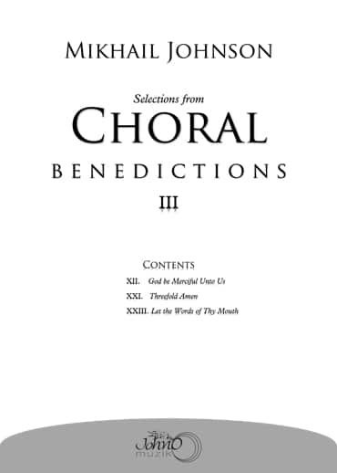 JMK-008 Selections-from-Choral-Benedictions-III