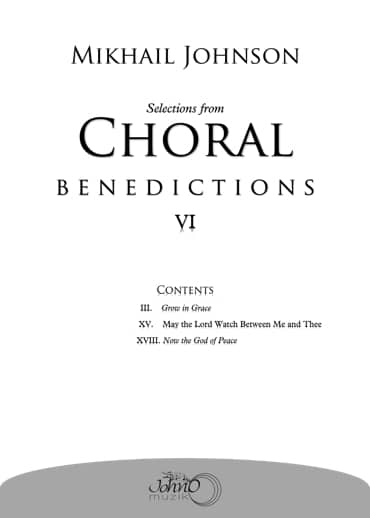 JMK-011 Selections-from-Choral-Benedictions-VI