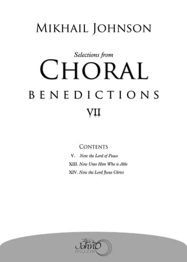 JMK-012 Selections-from-Choral-Benedictions-VII