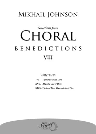JMK-013 Selections-from-Choral-Benedictions-VIII