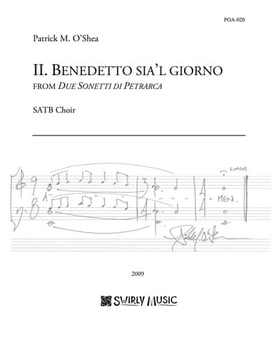 POA-020-Patrick-OShea-Benedetto-sial-giorno-SATB