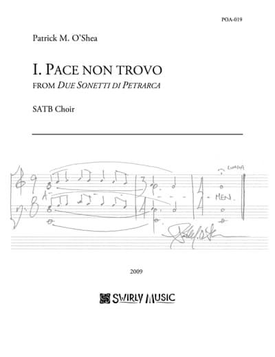 POA-021-Patrick-OShea-Pace-non-trovo-SATB