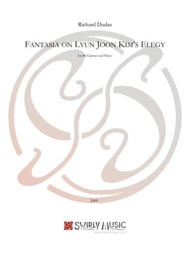 SWM-107 Fantasia on Lyun Joon Kims Elegy – clarinet version -score
